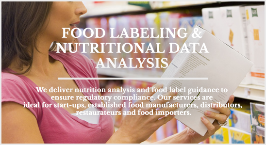 Q² Food Labeling & Nutritional Data Analysis
